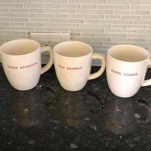 Rae Dunn Other - Rae Dunn Christmas Mugs Set 3 FINAL PRICE
